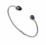 Bracelet, Sterling silver bracelet with Larvikite, Vindel with Larvikite, Made in Norway by Hundlresolv, Norwegian Made
