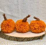 DIY Pumpkin Pom Pom kits, Fall decor, Kids craft, Family Craft, made by Lille Storm Design