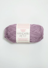 Mandarin Petit, Light Heather 4622, 100% cotton yarn from Sandnes Garn, Norwegian yarn in the US, Sandnes Garn in the US, Sandnes Garn in California