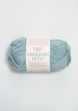 Mandarin Petit, Dusty Petrol 6822, 100% cotton yarn from Sandnes Garn, Sandnes Garn from Norway, Sandnes Garn in the US