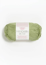 Mandarin Petit Light green 9522, 100% cotton, Sandnes Garn made in Norway, Norwegian made yarn, Sandnes Garn in the US