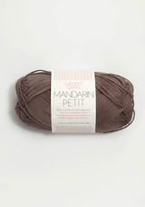 Mandarin Petit Medium Brown 3161, 100% cotton yarn from Sandnes Garn, Sandnes Garn from Norway, Norwegian Yarn, Sandnes Garn in the US