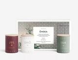 Onska, Holiday gift sent, Set of 3 candles from Skandinavisk, Jul, Holiday Collection from Skandinavisk, Made in Denmark, Skandinavisk in the US