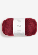 Kos Deep Red 4236, Sandnes Garn in the US, Sandnes Garn Norwegian made yarn