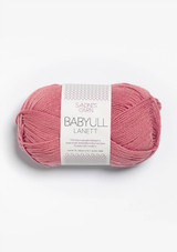 Babyull Lanett Dusty Old Pink 4023, Sandnes Garn Babyull Lanett, Norwegian yarn, Sandnesgarn in the US
