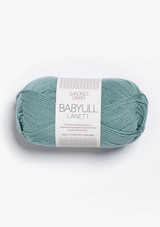 Babyull Lanett Dusty Aqua 6841, Sandnes Garn from Norway, Norwegian yarn, Sandnes Garn in the US