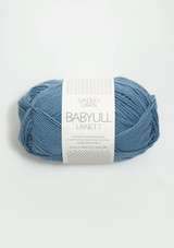 Babyull Lanett Medium Blue 6033, Sandnes Garn, Norwegian Yarn, Sandnes Garn in the US