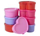 Set of 8 heart shaped food containers, FBOX-HEAXC, Rice.dk, Danish Design