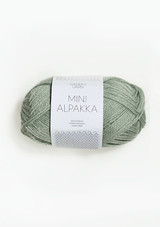 Mini Alpakka Dusty Green 803, Sandnes Garn in USA, Sandnes Garn , Norwegian Yarn, Petit Knit