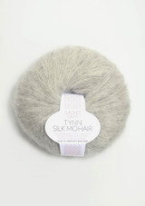 Tynn Silk Mohair, Light Grey 1022, Sandnes Garn,  Sandnes Garn in USA, Sandnes Garn Norwegian Made yarn