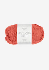Mandarin Petit, Chili 3528, Sandnes Garn, Sandnes Garn in USA, 100% cotton yarn from Sandnes Garn