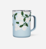 Rifle Paper Co, Corkcicle coffee cup, Hydrangea print