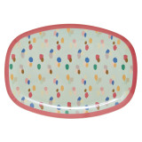 Rectangular plate, Dapper Dot Print