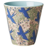 Medium melamine cup, Swallow Print