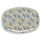 Melamine Rectangular Plate, Swallow Print