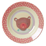Kids Melamine Bowl, Girl Camper