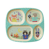Kids 4 room plate, Boy Camper