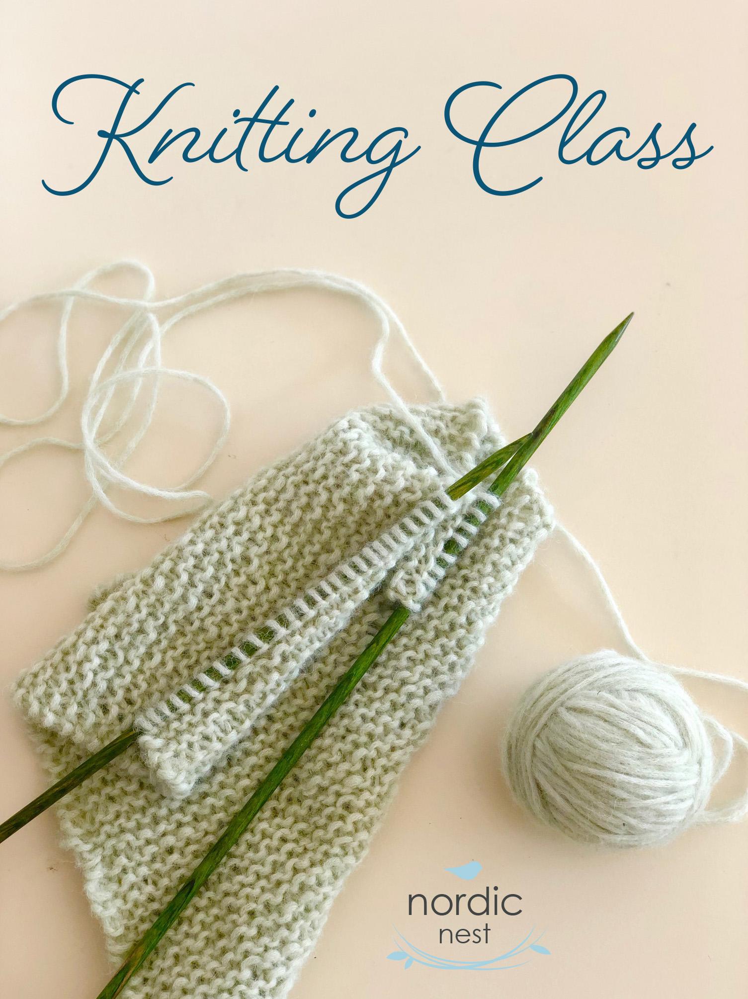 Knitting Class, beginning level