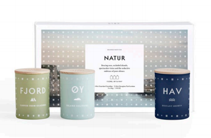 Scented candles, gift set, Natur