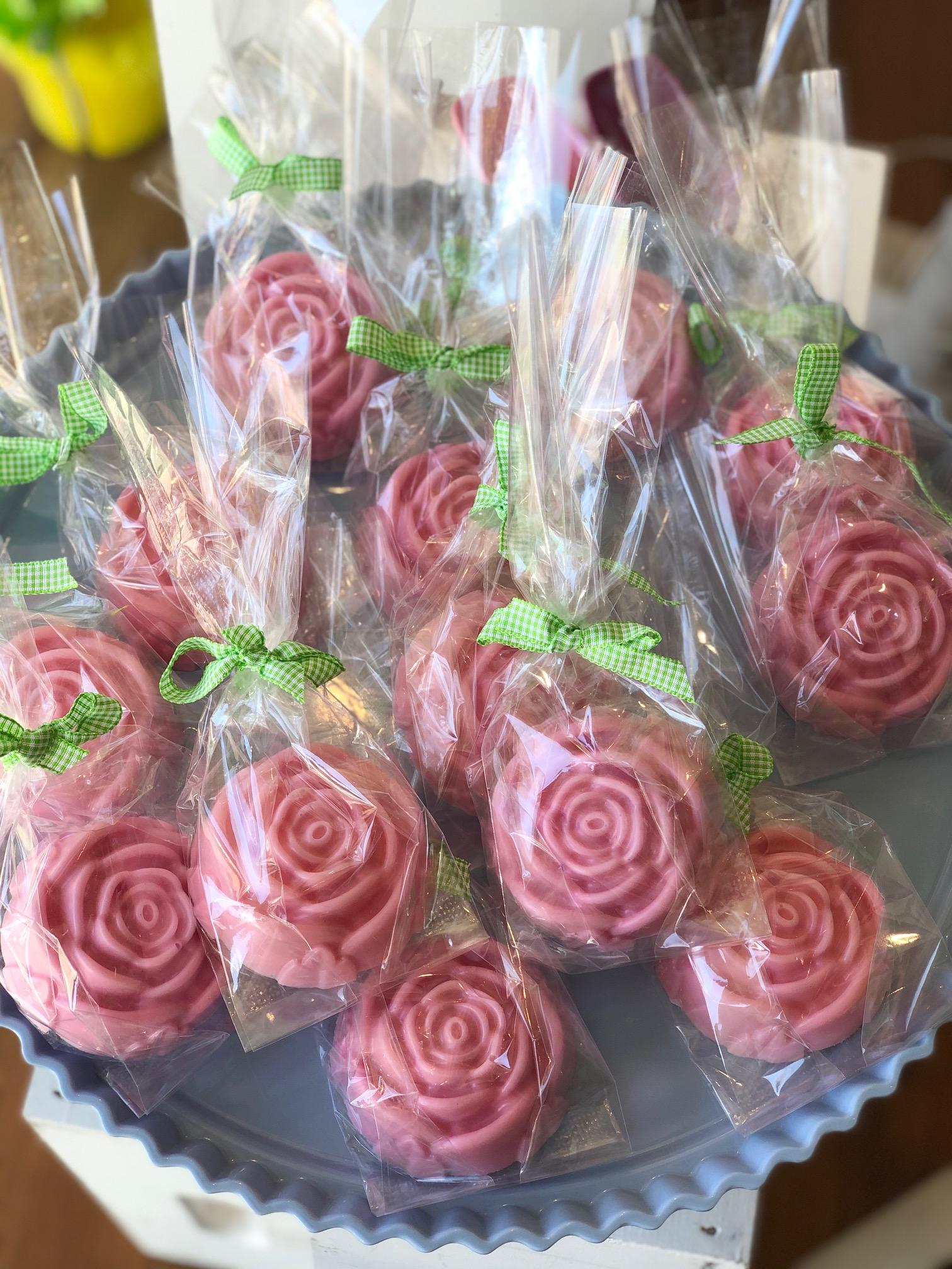 Handmade flower shaped soap
