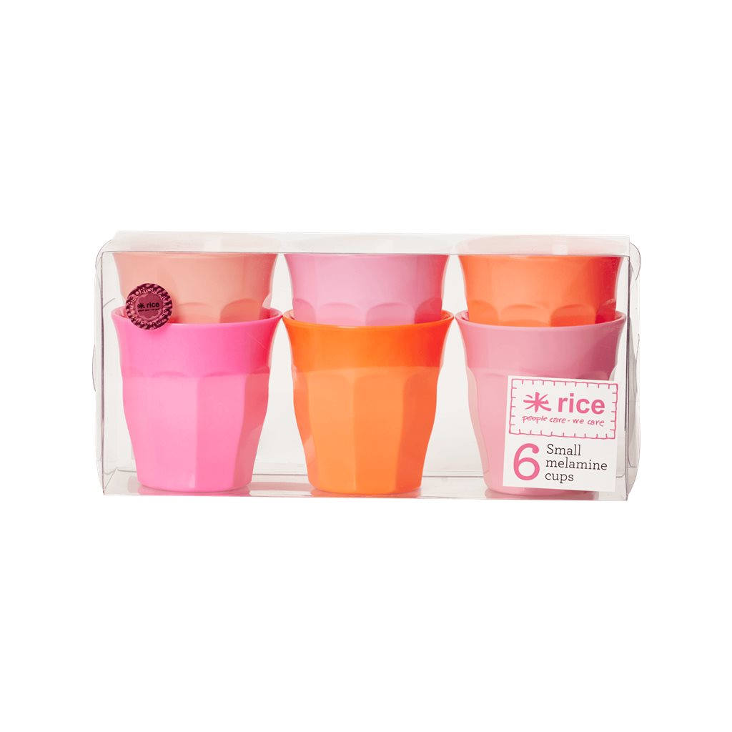 Small Melamine cups in Pink and Orange colors