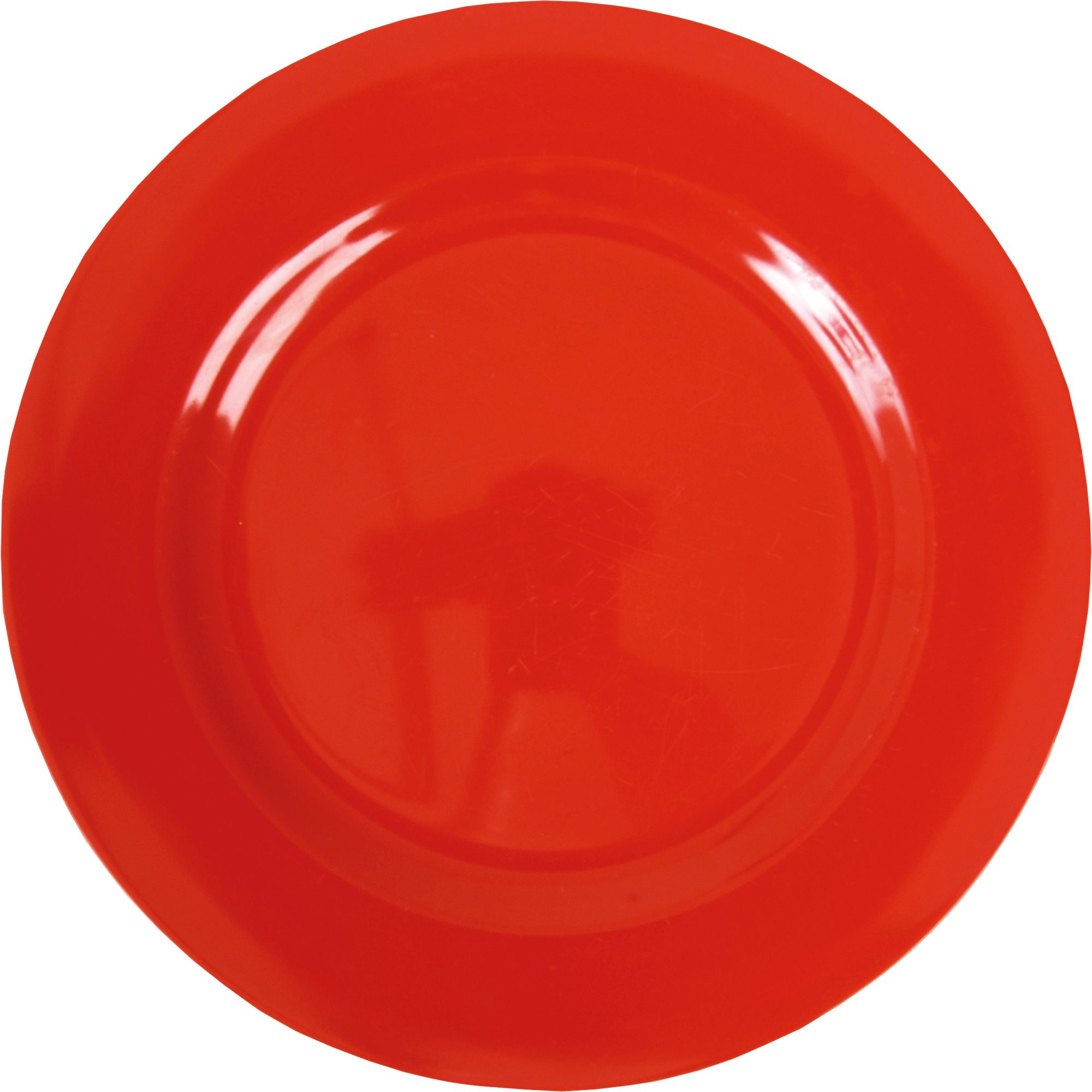 Solid colored melamine dinner plate in Red from Rice