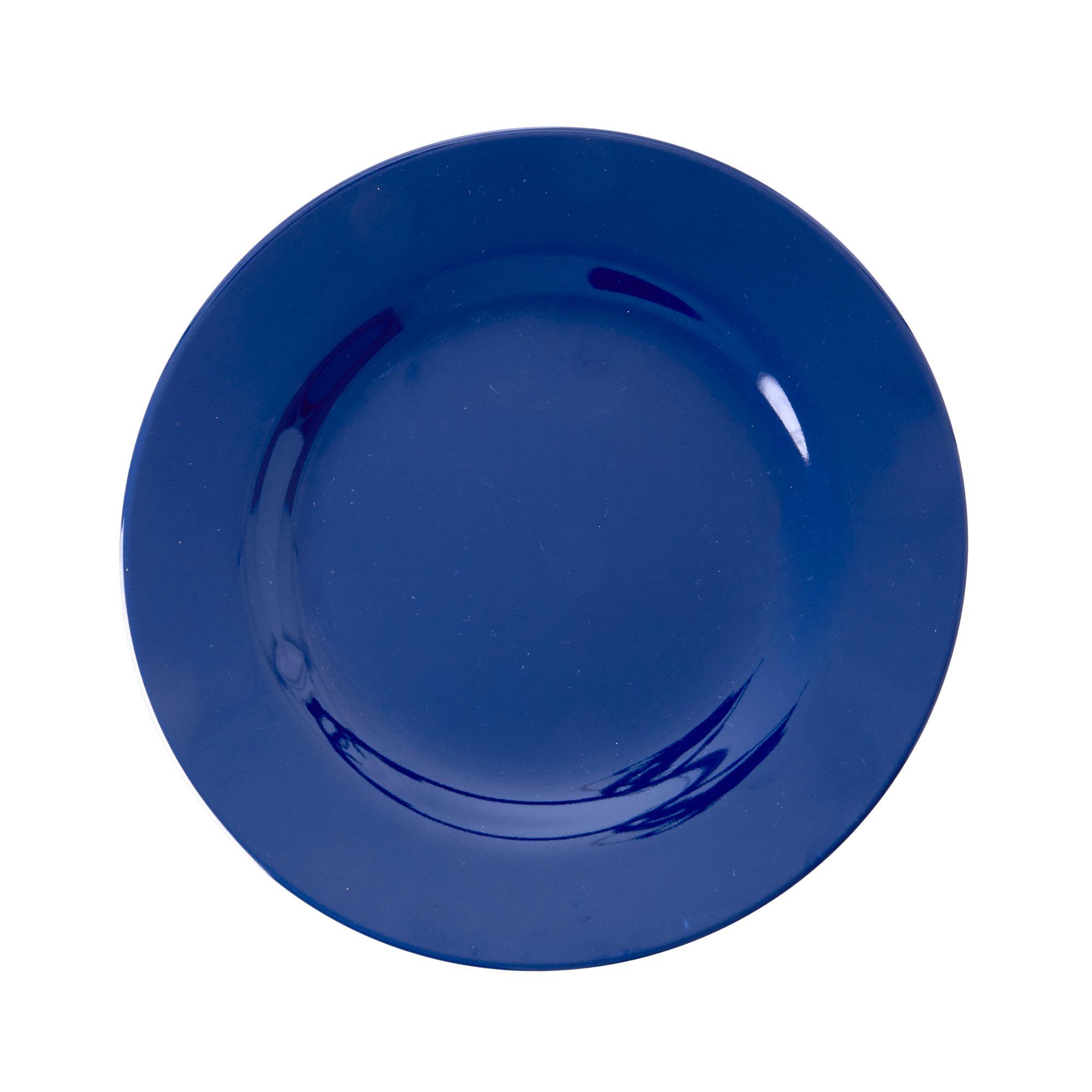 Melamine side plate in Navy Blue