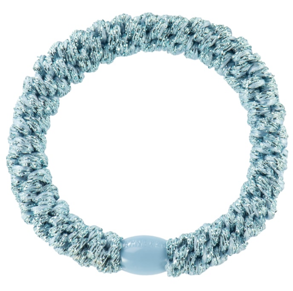 Kknekki Light Blue Glitter hair ties from Bon Dep in Norway