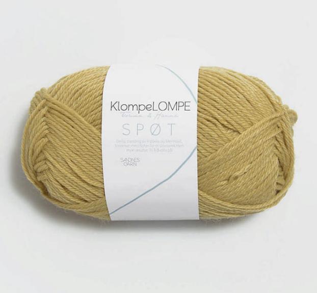 Spot, Spøt, corn yellow 2034, Sandnes Garn from Norway, Klompe Lompe yarn from Norway, Alpaca and Merino wool