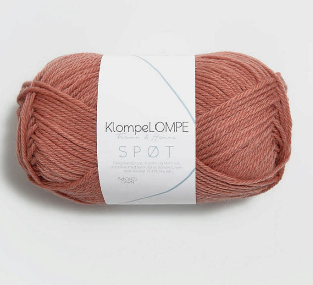 Spot, Brown Pink 3544, Sandnes Garn from Norway, Klompe Lompe yarn from Norway