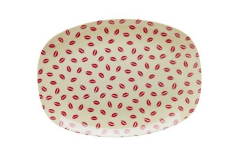 Rectangular Melamine plate in Kiss Print