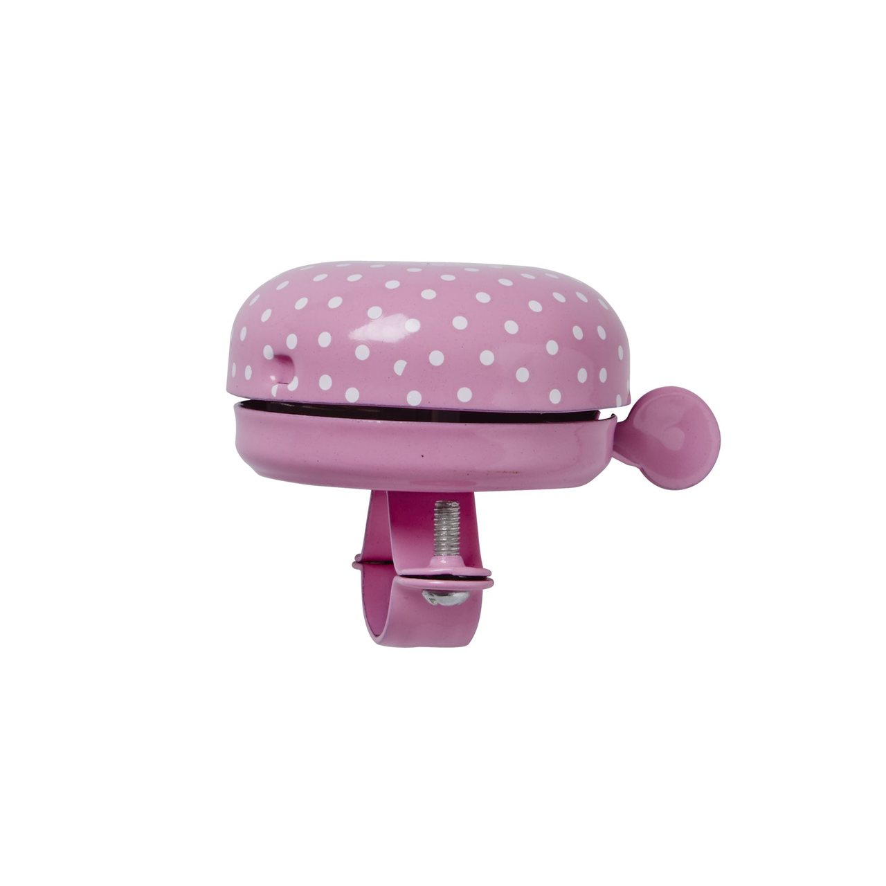 Bike Bell, Pink with white dots