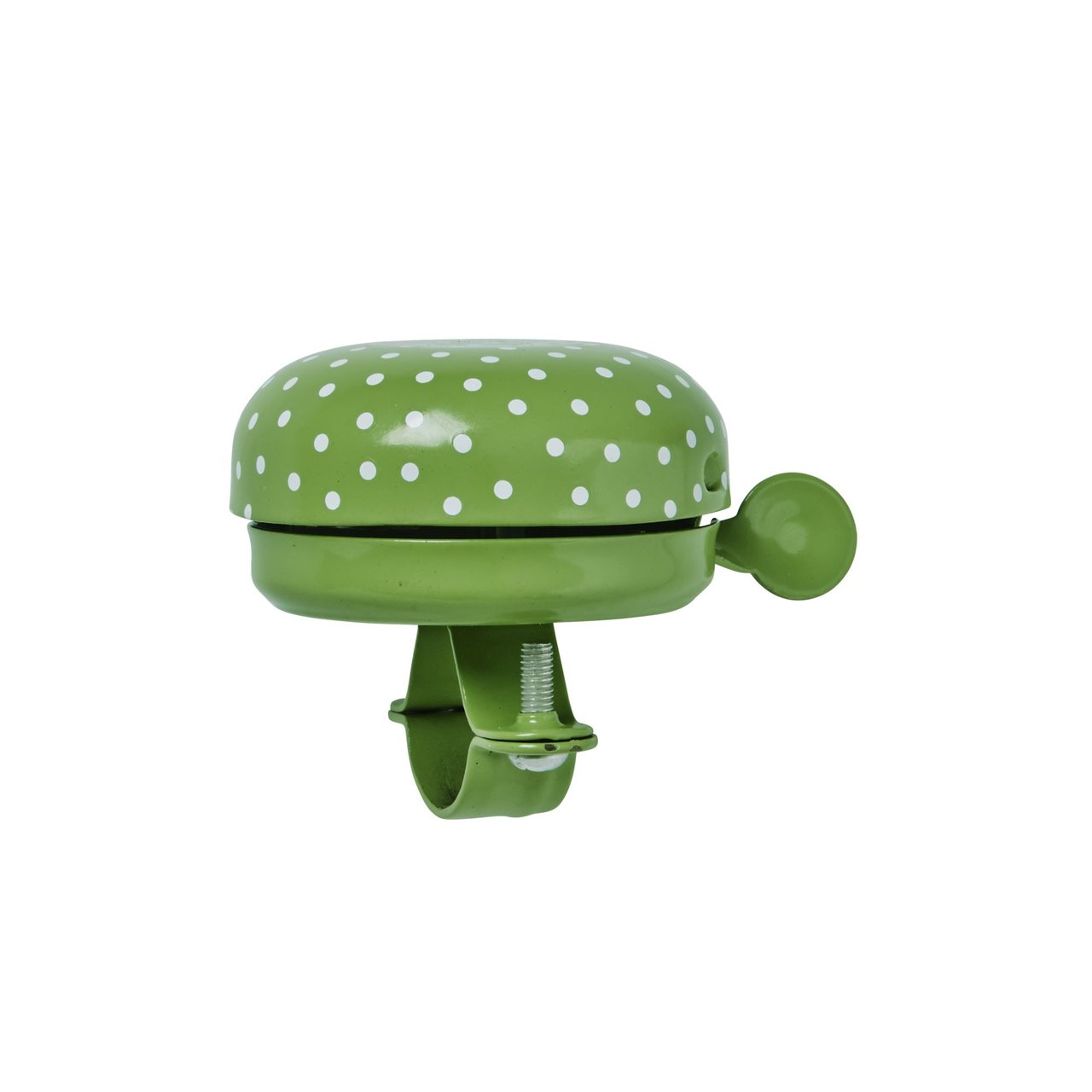 Bike Bell, Green with white dots