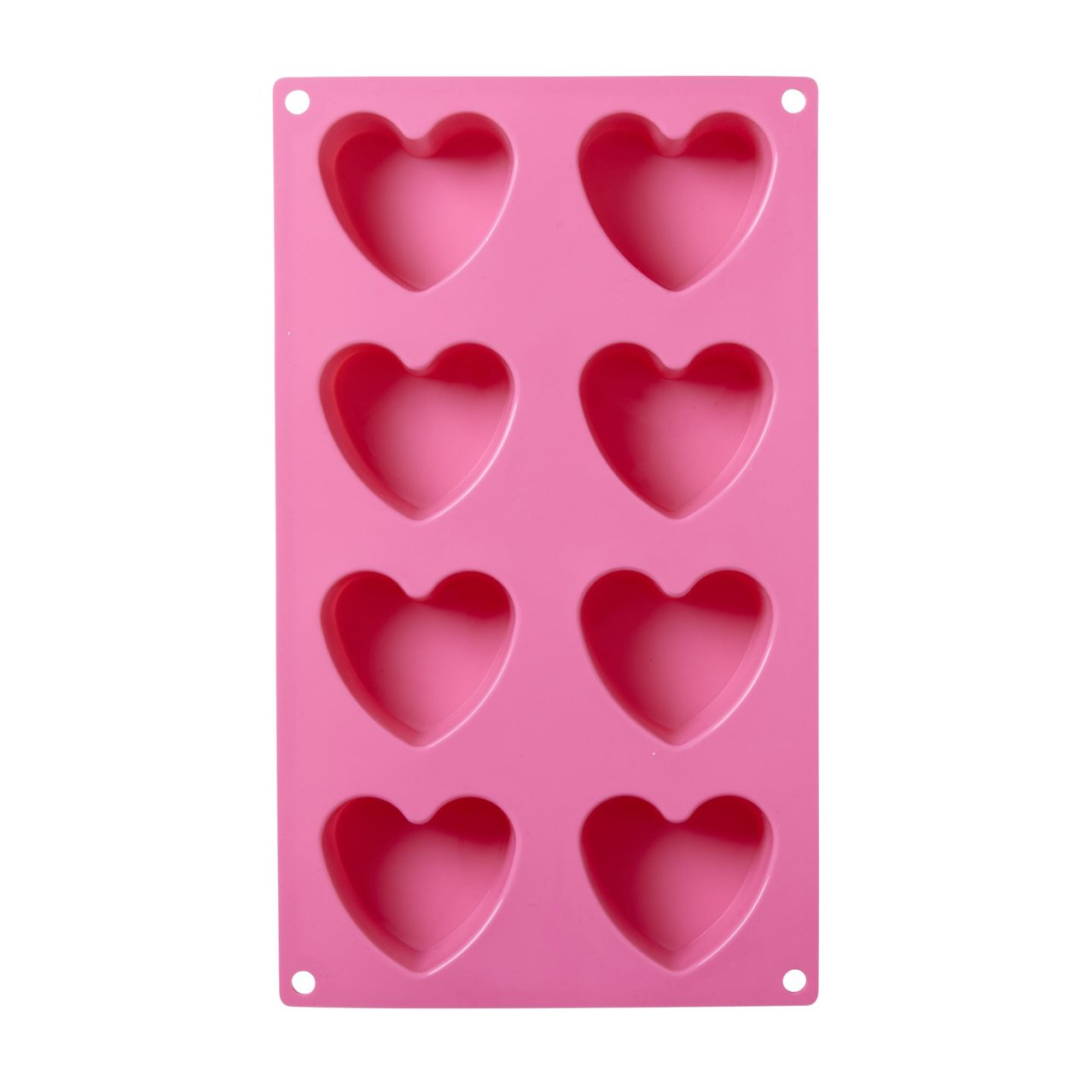 Heart Shaped Silicon Baking Mold in Pink