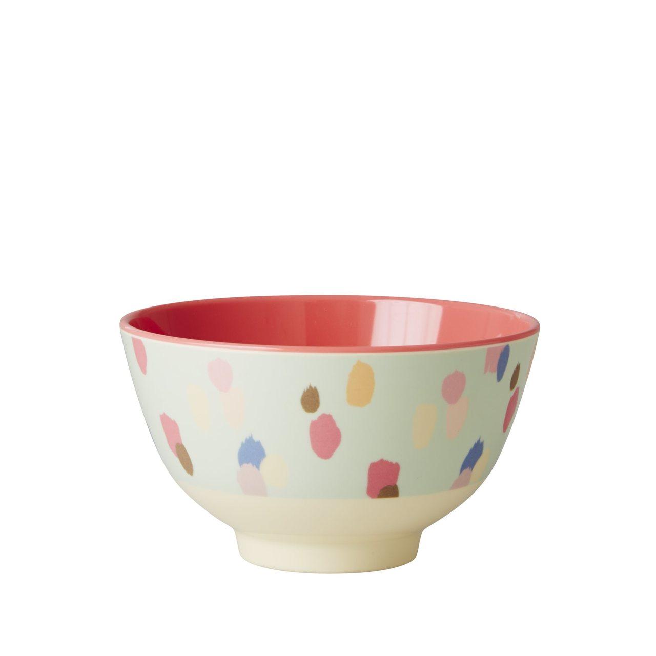 Small Melamine Bowl, Dapper Dot print