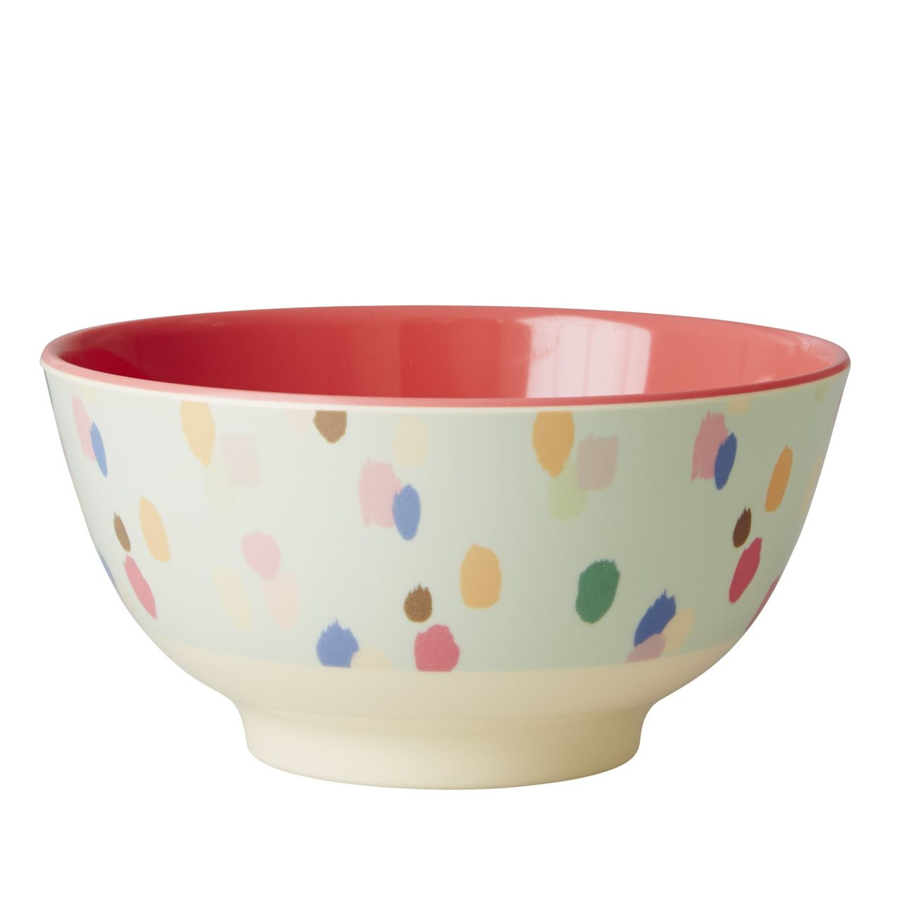 Melamine Two-Tone Bowl, Dapper Dot Print