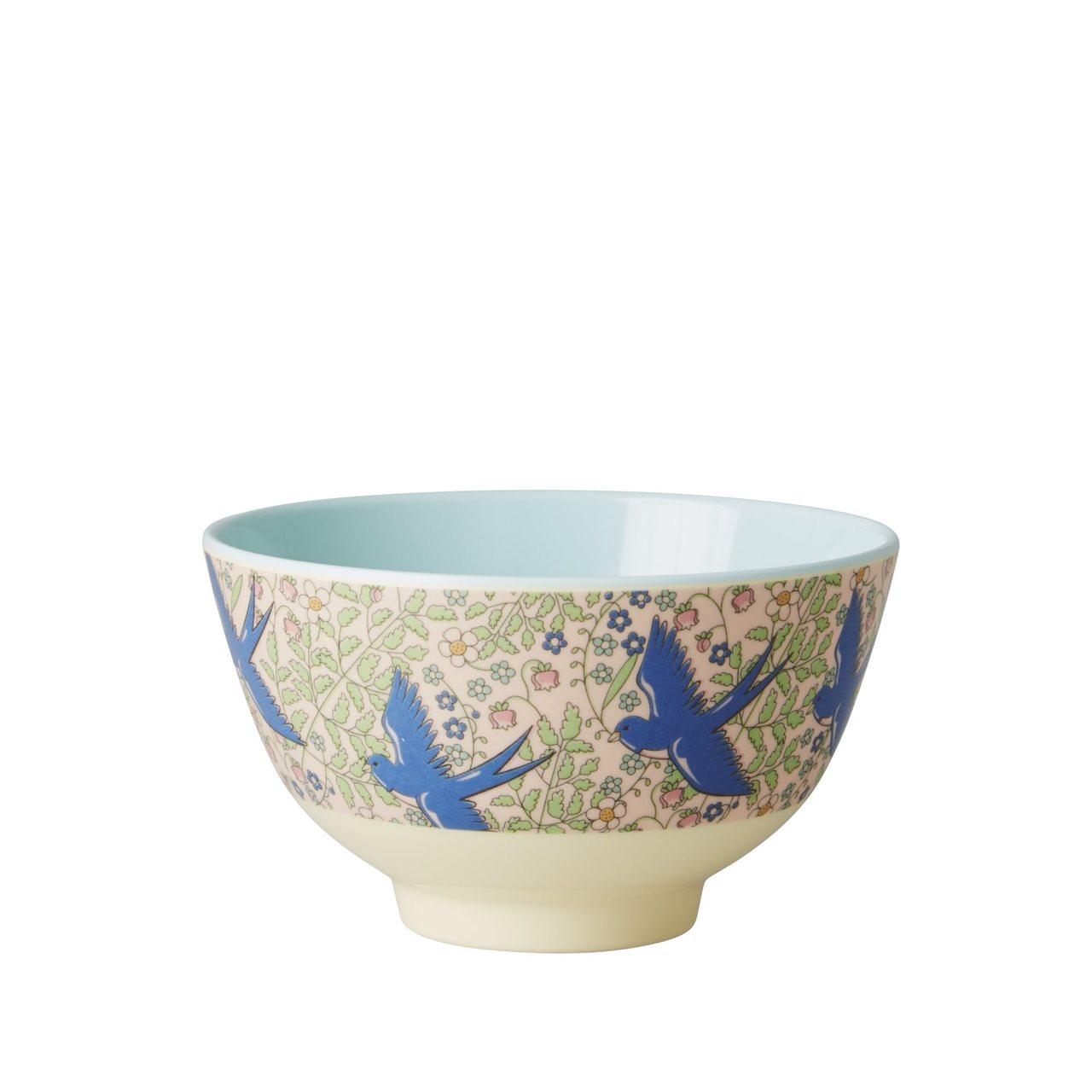 Small melamine bowl, Swallow Print