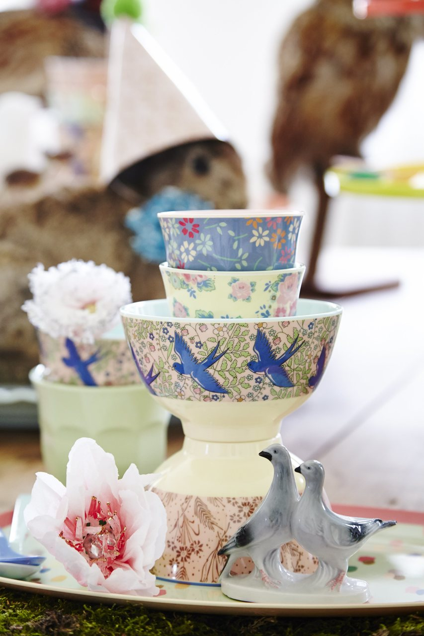 Melamine collection, Swallow print