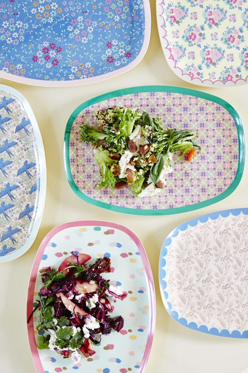 Melamine Rectangular Plate collection, Swallow Print