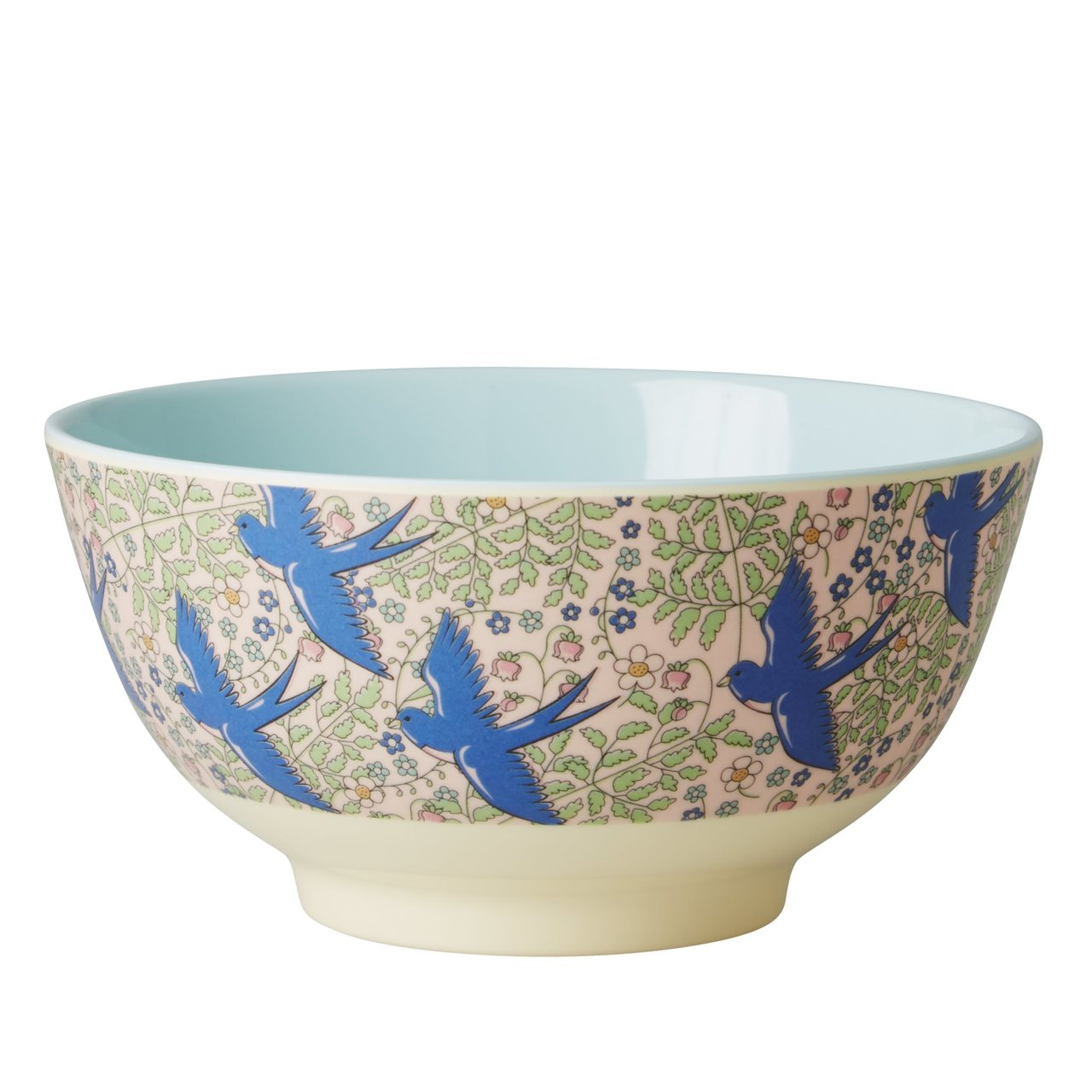 Melamine Bowl, Swallow Print