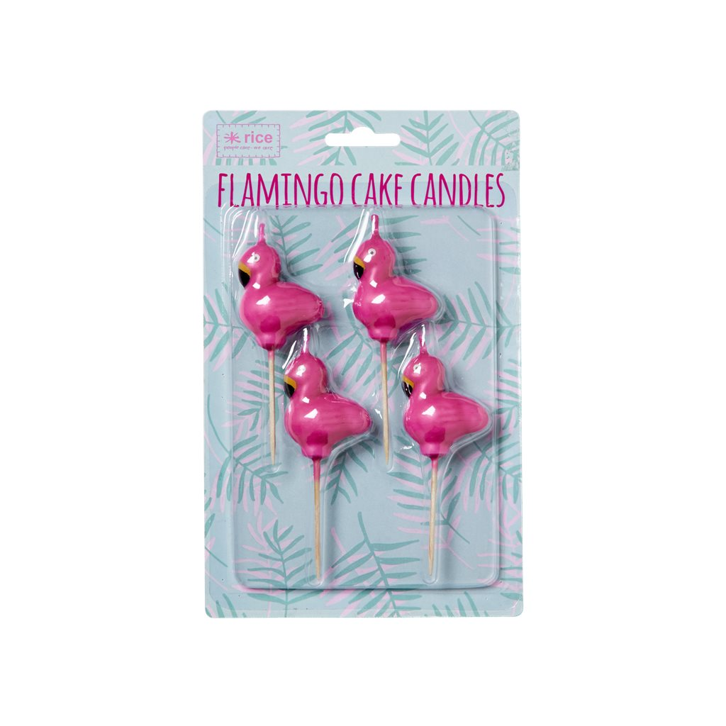 Flamingo Candles, 4 pack