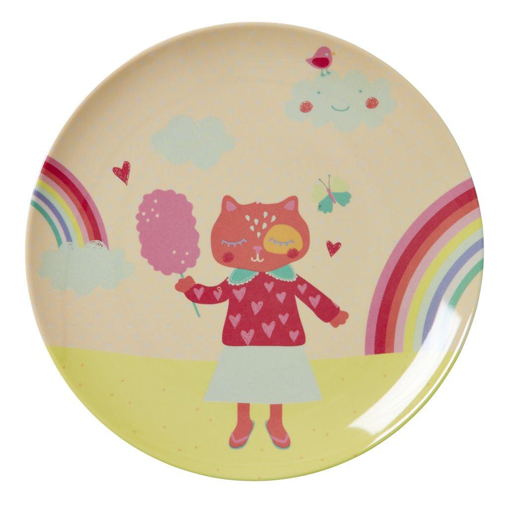 Kids lunch plate, Girl Camper