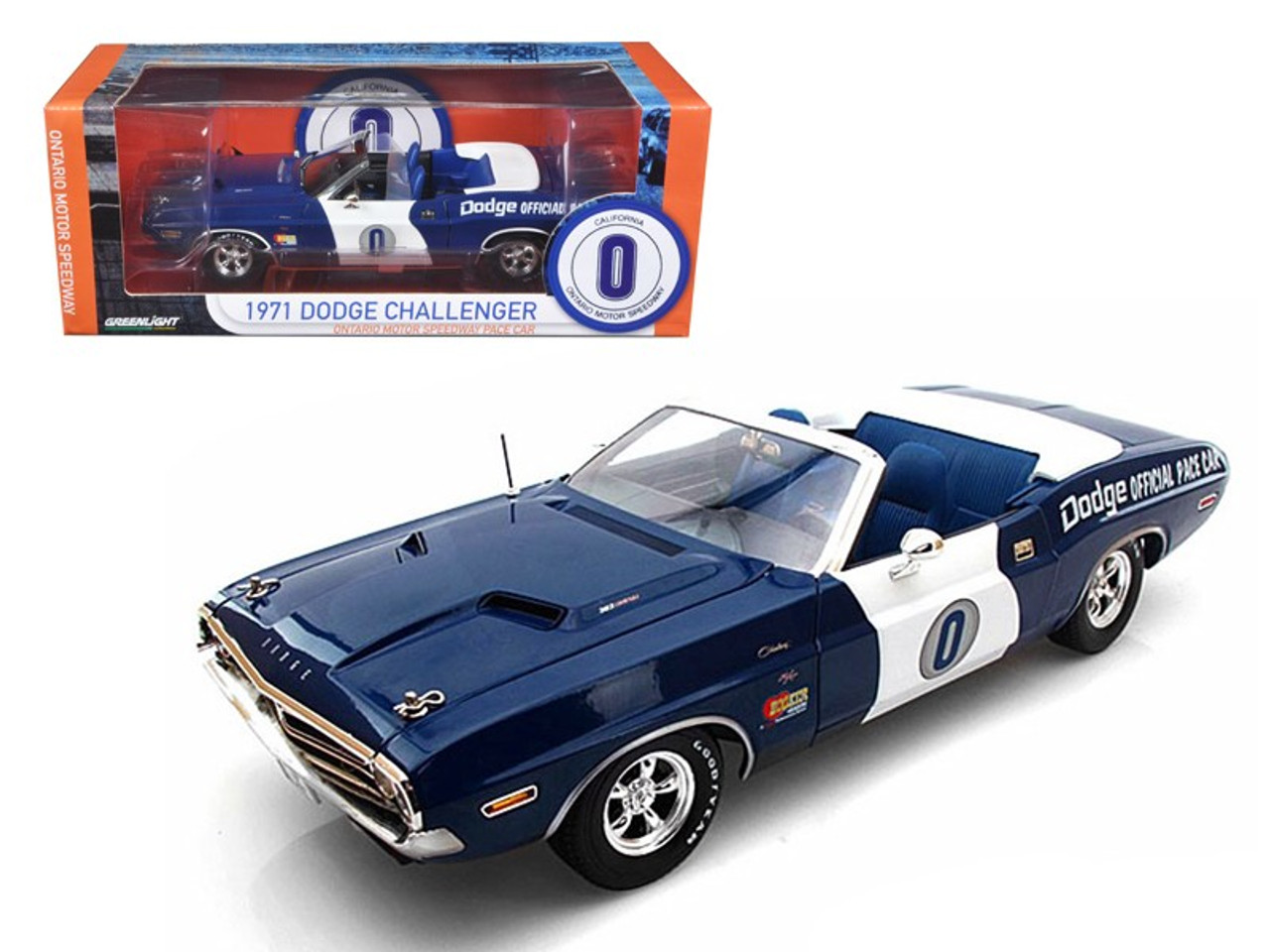 Greenlight Pre-Order /'71 Dodge Challenger Ontario Motor Speedway Pace Car 30145