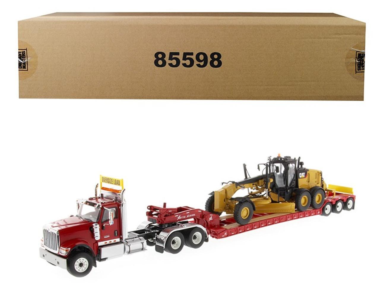 1//50 BY DIECAST MASTERS 71016 INTERNATIONAL HX520 RED XL 120 LOWBOY TRAILER