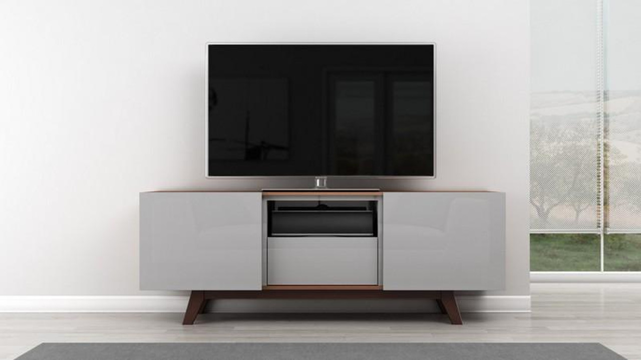 Picture of: Furnitech 70 Modern Tv Stand Media Console For Flat Screen Ft70r