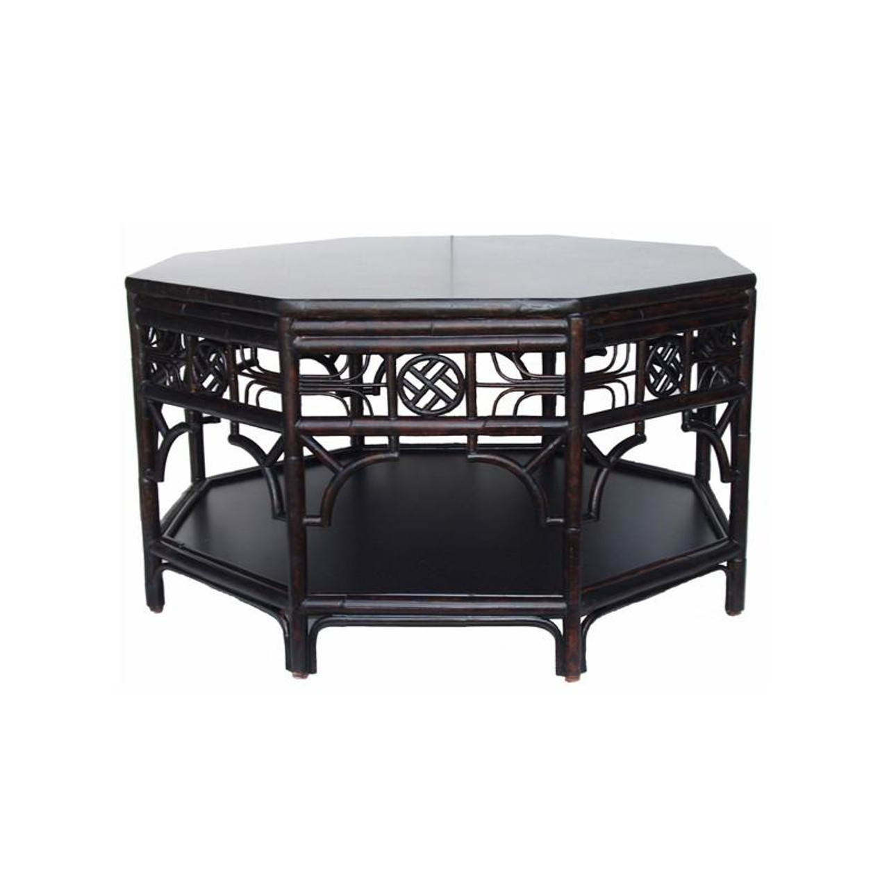 Can301 Red Egg Indochine Octagonal Coffee Table