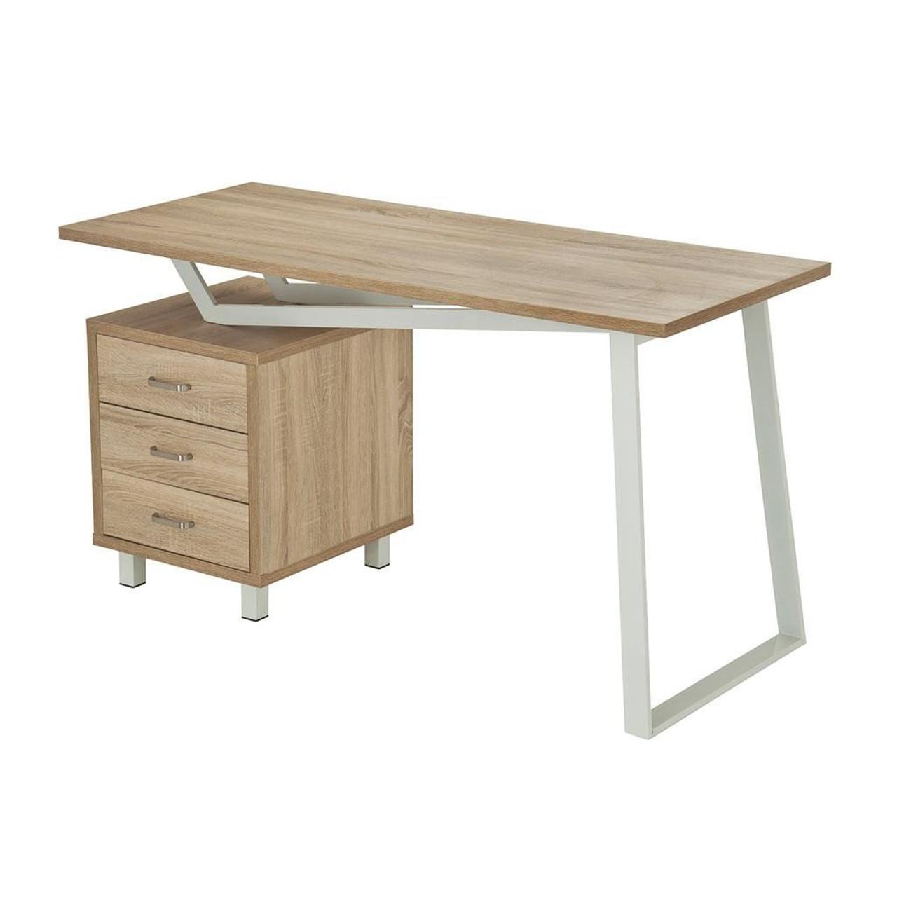 Techni Mobili Modern Design Computer Desk W Storage Sand Rta 2333 Snd