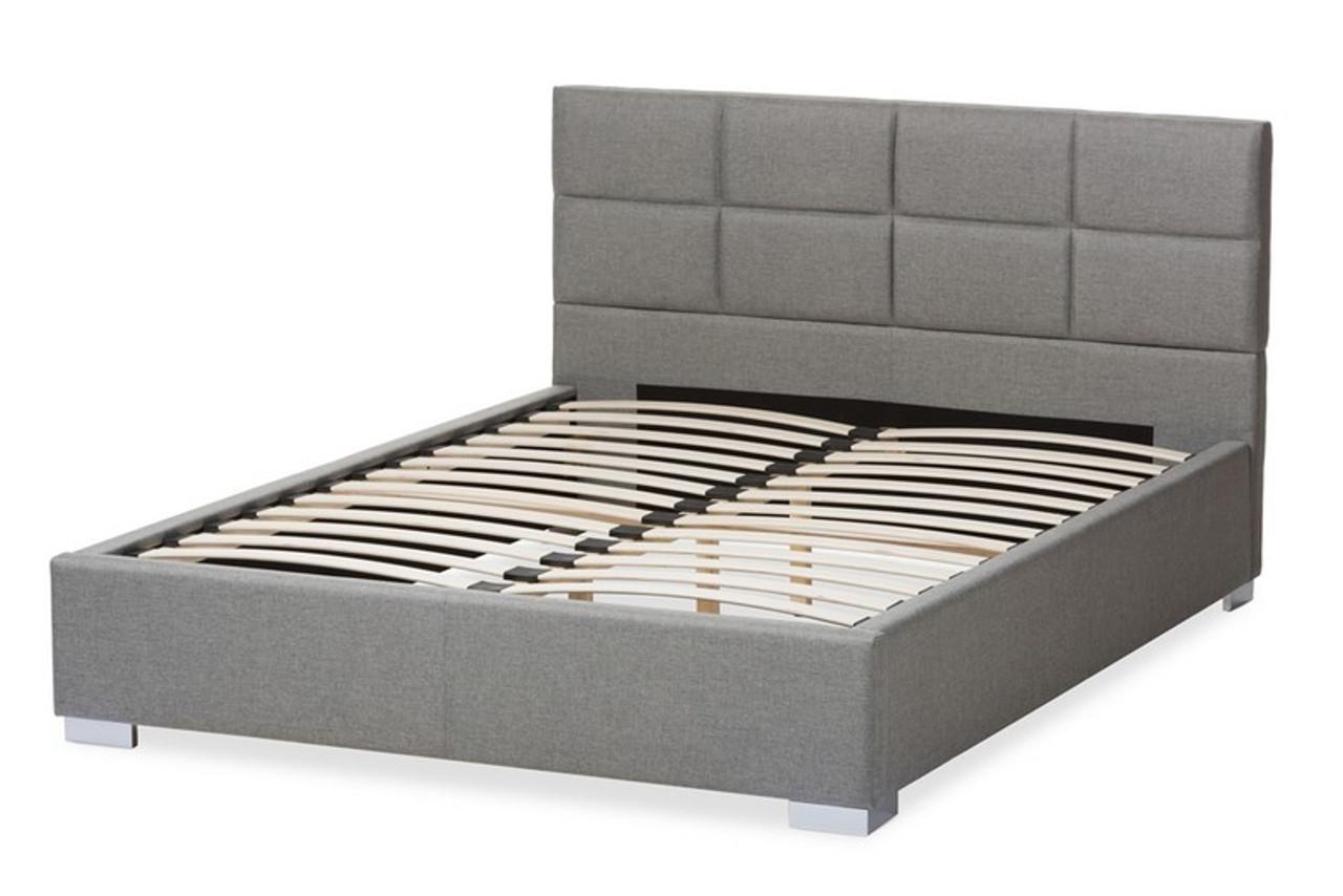 Picture of: Baxton Studio Sophie Grey Fabric Upholstered Queen Platform Bed Bbt6481 Queen Grey