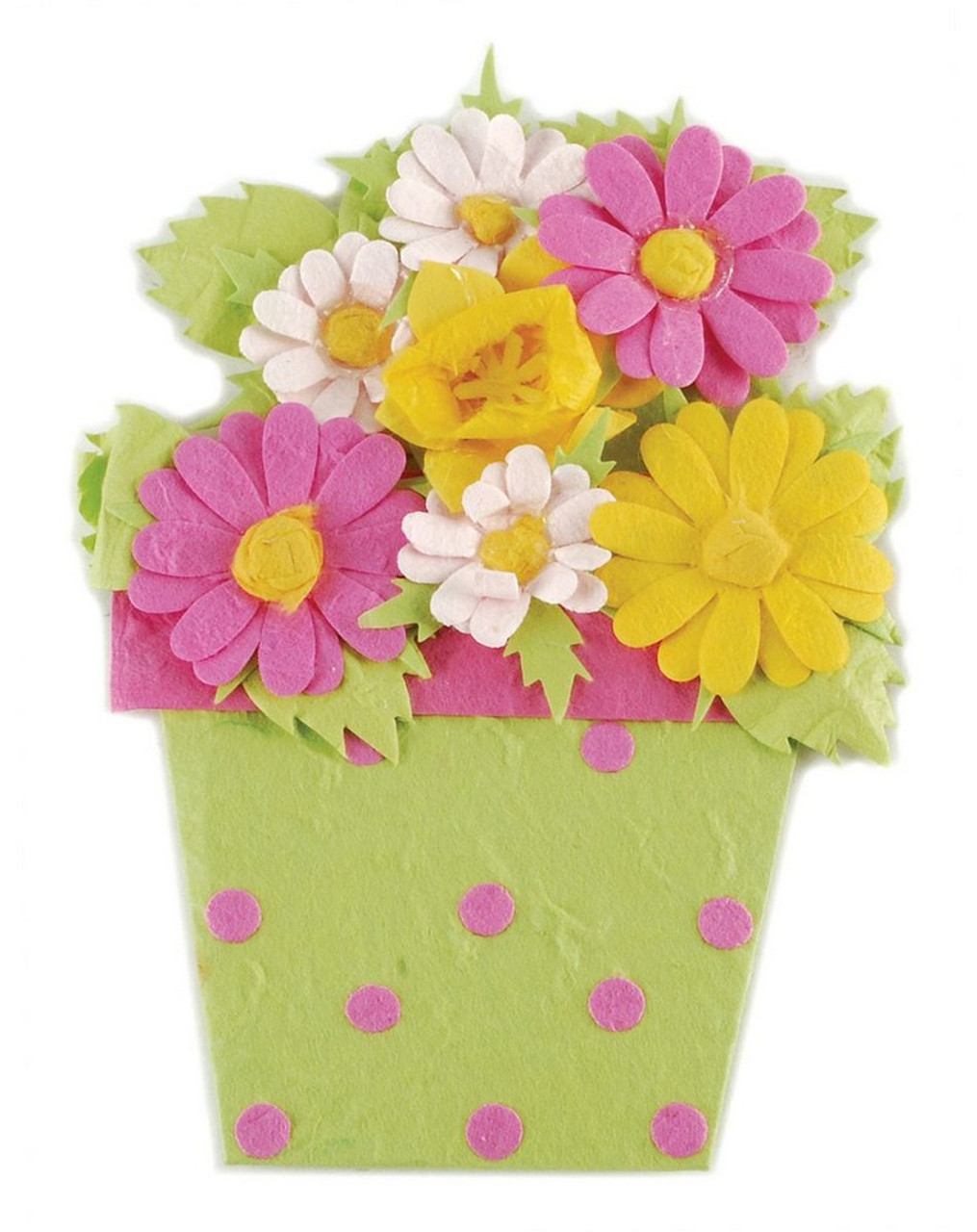 151 71543 Green Pink Flowers Gift Card Holder In Wrapping Pack Of 12