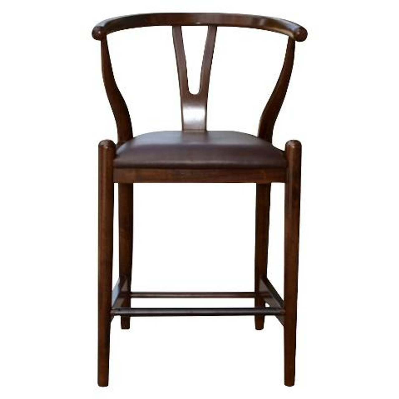 Boraam 24 Inch Wishbone Counter Stool Cappuccino 52024